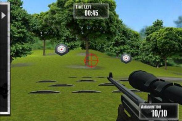 Je länger je mehr: Im Outdoor-Modus schiesst der App-User mit einer M16 auf bewegliche Zielscheiben.